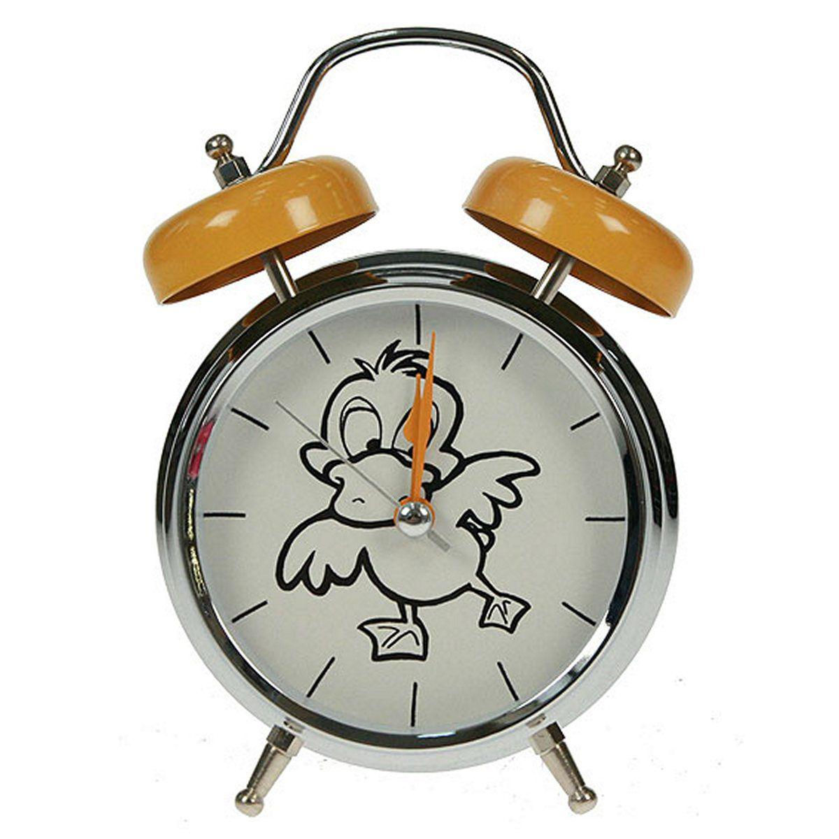 Часы настольные Русские Подарки Утка, с функцией будильника, 12 х 6 х 17 см. 23241296884Настольные кварцевые часы Русские Подарки Утка изготовлены из металла, циферблат защищен стеклом. Оригинальное оформление в виде смешной утки поднимет настроение, а благодаря функции будильника вы проснетесь вовремя. Часы имеют три стрелки - часовую, минутную и секундную.Такие часы украсят интерьер дома или рабочий стол в офисе. Также часы могут стать уникальным, полезным подарком для родственников, коллег, знакомых и близких.Часы работают от батареек типа АА (в комплект не входят).