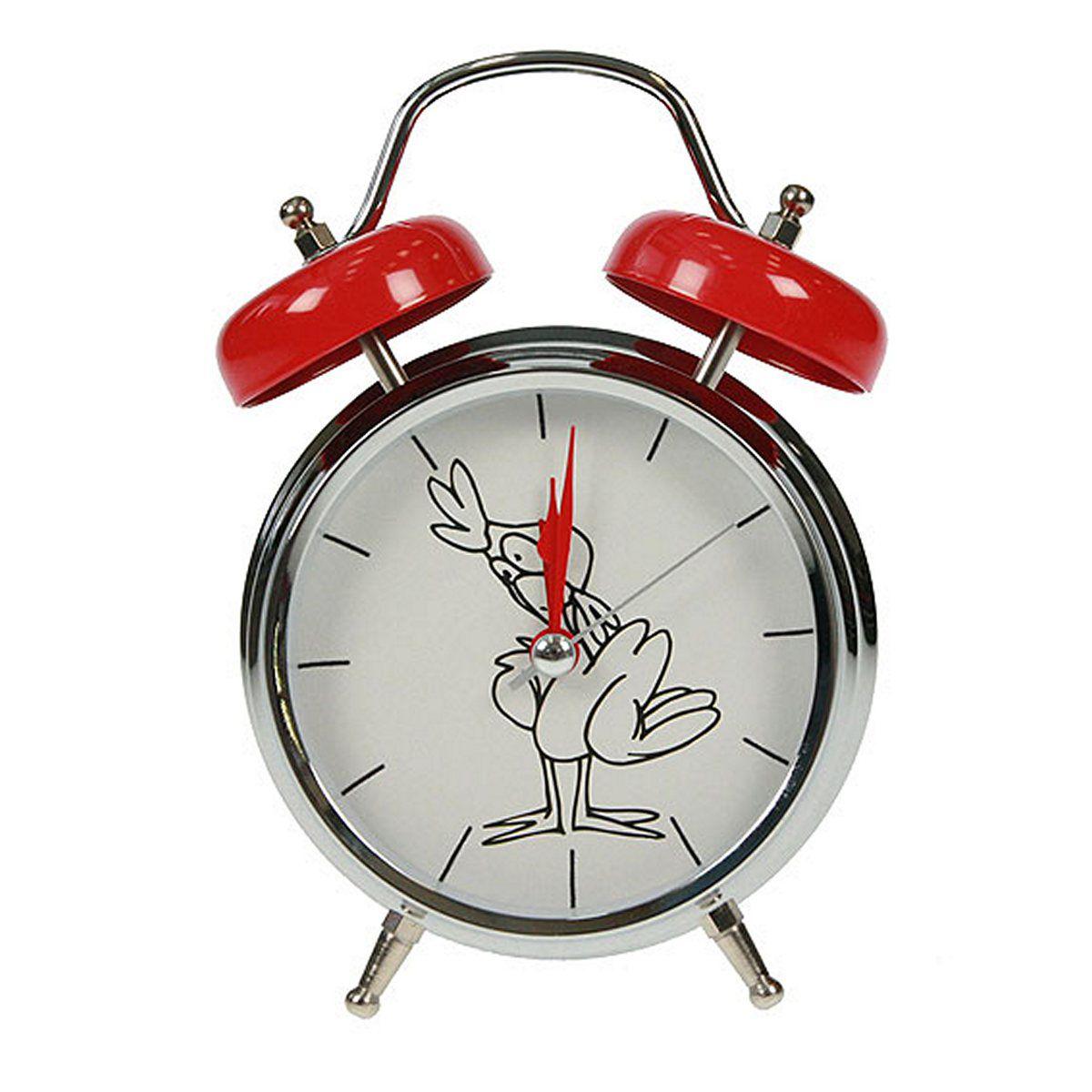 Часы настольные Русские Подарки Петух, с функцией будильника, 12 х 6 х 17 см. 23241394672Настольные кварцевые часы Русские Подарки Петух изготовлены из металла, циферблат защищен стеклом. Оригинальное оформление в виде смешного петуха поднимет настроение, а благодаря функции будильника вы проснетесь вовремя. Часы имеют три стрелки - часовую, минутную и секундную.Такие часы украсят интерьер дома или рабочий стол в офисе. Также часы могут стать уникальным, полезным подарком для родственников, коллег, знакомых и близких.Часы работают от батареек типа АА (в комплект не входят).
