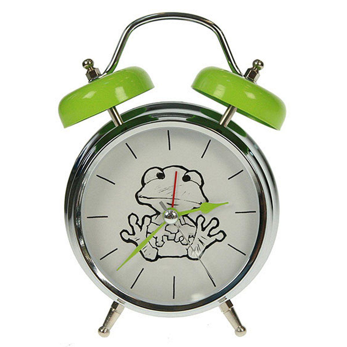 Часы настольные Русские Подарки Лягушка, с функцией будильника, 12 х 6 х 17 см. 23241494672Настольные кварцевые часы Русские Подарки Лягушка изготовлены из металла, циферблат защищен стеклом. Оригинальное оформление в виде смешной лягушки поднимет настроение, а благодаря функции будильника вы проснетесь вовремя. Часы имеют три стрелки - часовую, минутную и секундную.Такие часы украсят интерьер дома или рабочий стол в офисе. Также часы могут стать уникальным, полезным подарком для родственников, коллег, знакомых и близких.Часы работают от батареек типа АА (в комплект не входят).