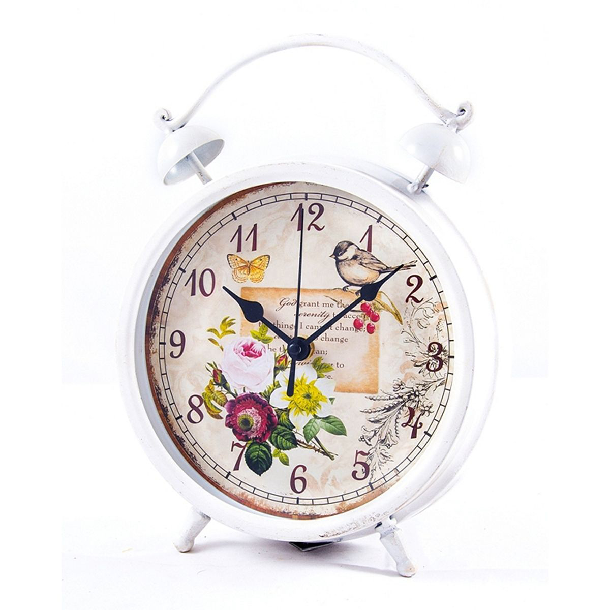 Часы настольные Русские Подарки, 21 х 28 х 6 см. 2960929609Настольные кварцевые часы Русские Подарки изготовлены из металла,циферблат красочно оформлен и защищен стеклом. Часы имеют три стрелки - часовую, минутную и секундную.Такие часы оригинально украсят интерьер дома или рабочий стол в офисе. Также часы могут стать уникальным, полезным подарком для родственников, коллег, знакомых и близких.Часы работают от батареек типа АА (в комплект не входят).