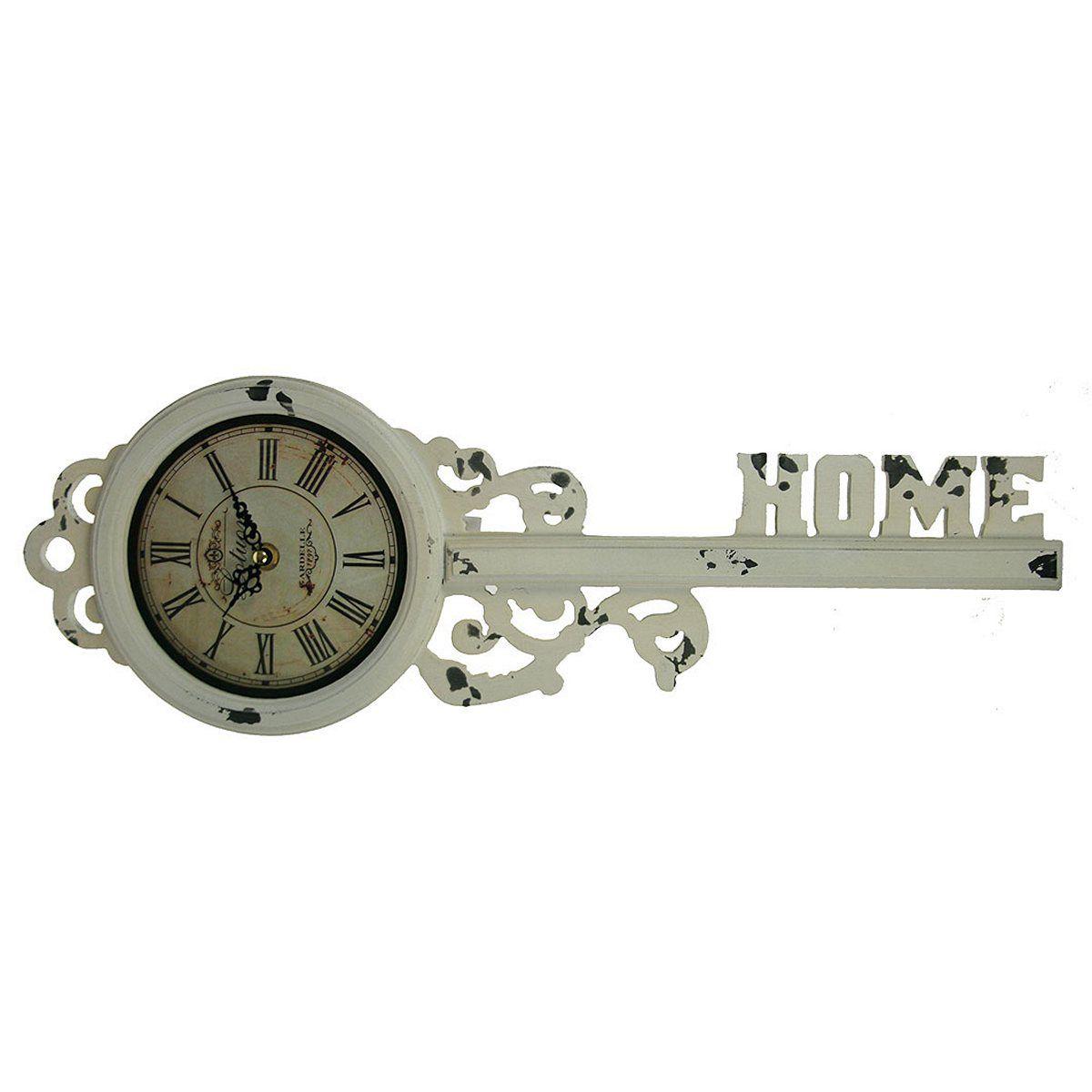 Часы настенные Русские Подарки, 18 х 52 х 5 см. 29614M9052CSilverНастенные кварцевые часы Русские Подарки изготовлены из МДФ. Корпус выполнен в виде старинного ключа и имеет надпись Home. Часы имеют две стрелки - часовую и минутную. С обратной стороны имеется петелька для подвешивания на стену.Изящные часы красиво и оригинально оформят интерьер дома или офиса.