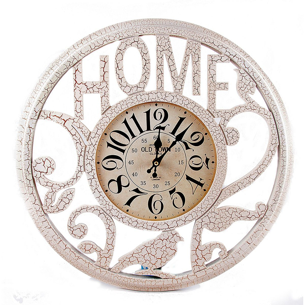 Часы настенные Русские Подарки, 50 х 50 х 5 см. 29624300074_ежевикаНастенные кварцевые часы Русские Подарки изготовлены из МДФ. Корпус оформлен узорами и надписью Home. Часы имеют две стрелки - часовую и минутную. С обратной стороны имеетсяпетелька для подвешивания на стену.Изящные часы красиво и оригинально оформят интерьер дома или офиса. Также часы могут стать уникальным, полезным подарком для родственников, коллег, знакомых и близких.Часы работают от батареек типа АА (в комплект не входят).