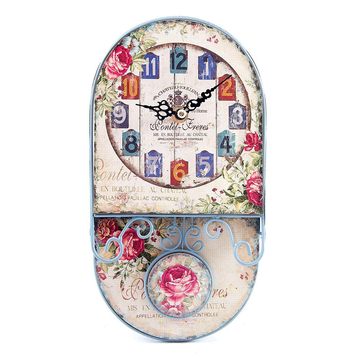 Часы настенные Русские Подарки, 14 х 26 х 6 см. 2962994672Настенные кварцевые часы Русские Подарки изготовлены из МДФ. Корпус оформлен изображением цветов и надписей. Часы имеют две стрелки - часовую и минутную. Циферблат не защищен стеклом. С обратной стороны имеется петелька для подвешивания на стену.Изящные часы красиво и оригинально оформят интерьер дома или офиса.