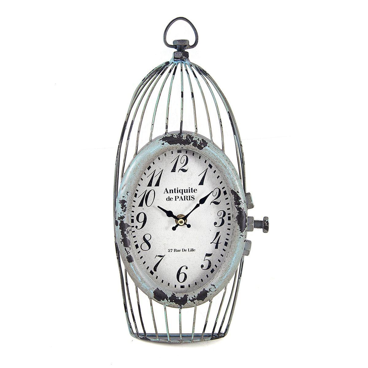 Часы настенные Русские Подарки, 18 х 6 х 37 см. 2963494672Настенные кварцевые часы Русские Подарки изготовлены из МДФ c элементами металла. Корпус выполнен в виде клетки. Часы имеют две стрелки - часовую и минутную. Циферблат защищен стеклом. Сверху имеется петелька для подвешивания на стену.Изящные часы красиво и оригинально оформят интерьер дома или офиса.Часы работают от батареек типа АА (в комплект не входят).