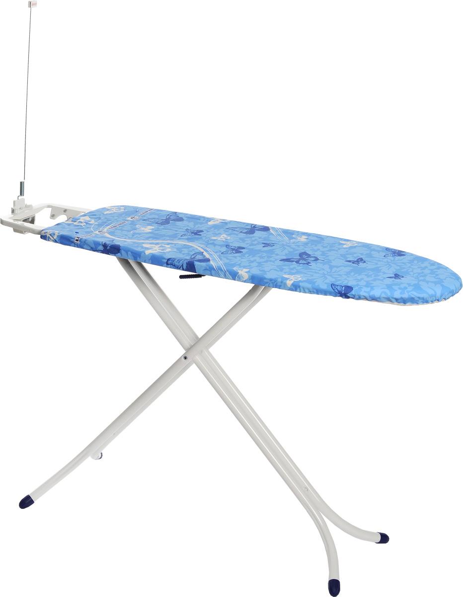 Гладильная доска Leifheit Air Board Compact Plus M, с электроподключением, 120 х 38 см72586-8Гладильная доска Leifheit Air Board Compact Plus M станет незаменимой помощницей в глажении белья. Очень существенная особенность - это ее легкий вес, доска на 25% легче аналогичных досок благодаря гладильной поверхности из вспененного пластика. Чехол из хлопка с поверхностью Thermo Reflect позволяет гладить на 33% быстрее. Благодаря эксклюзивной технологии отражающей поверхности белье гладится сразу с двух сторон. Форма доски идеальна для глажения любого текстиля, а также рубашек и блузок. Доска очень устойчива. Металлические ножки снабжены пластиковыми вставками. Новый механизм регулировки высоты обеспечивает большую безопасность и устойчивость. Доска снабжена фиксированной подставкой под утюг с держателем для провода. Электроподключение для утюга позволяет обойтись без удлинителей и гладить в любом месте комнаты. Регулировка по высоте: 75-88 см. Размер доски: 120 х 38 см. Длина провода: 1,8 м.