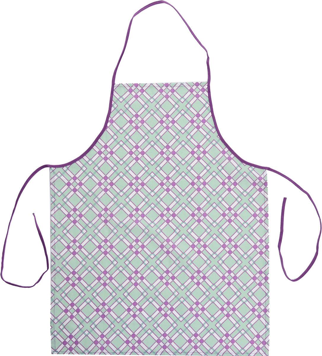 Фартук Bonita Черничный мохито, 56 х 67 смVT-1520(SR)Фартук Bonita Черничный мохито изготовлен из натурального хлопка с покрытием, которое отталкивает грязь, воду и масло. Фартук оснащен завязками. Имеет универсальный размер. Декорирован красивым геометрическим узором, который понравится любой хозяйке.Такой фартук поможет вам избежать попадания еды на одежду во время приготовления пищи. Кухня - это сердце дома, где вся семья собирается вместе. Она бережно хранит и поддерживает жизнь домашнего очага, который нас согревает. Именно поэтому так важно создать здесь атмосферу, которая не только возбудит аппетит, но и наполнит жизненной энергией. С текстилем Bonita открывается возможность не только каждый день дарить кухне новый облик, но и создавать настоящие кулинарные шедевры. Bonita станет незаменимым помощником и идейным вдохновителем, создающим вкусное настроение на вашей кухне.