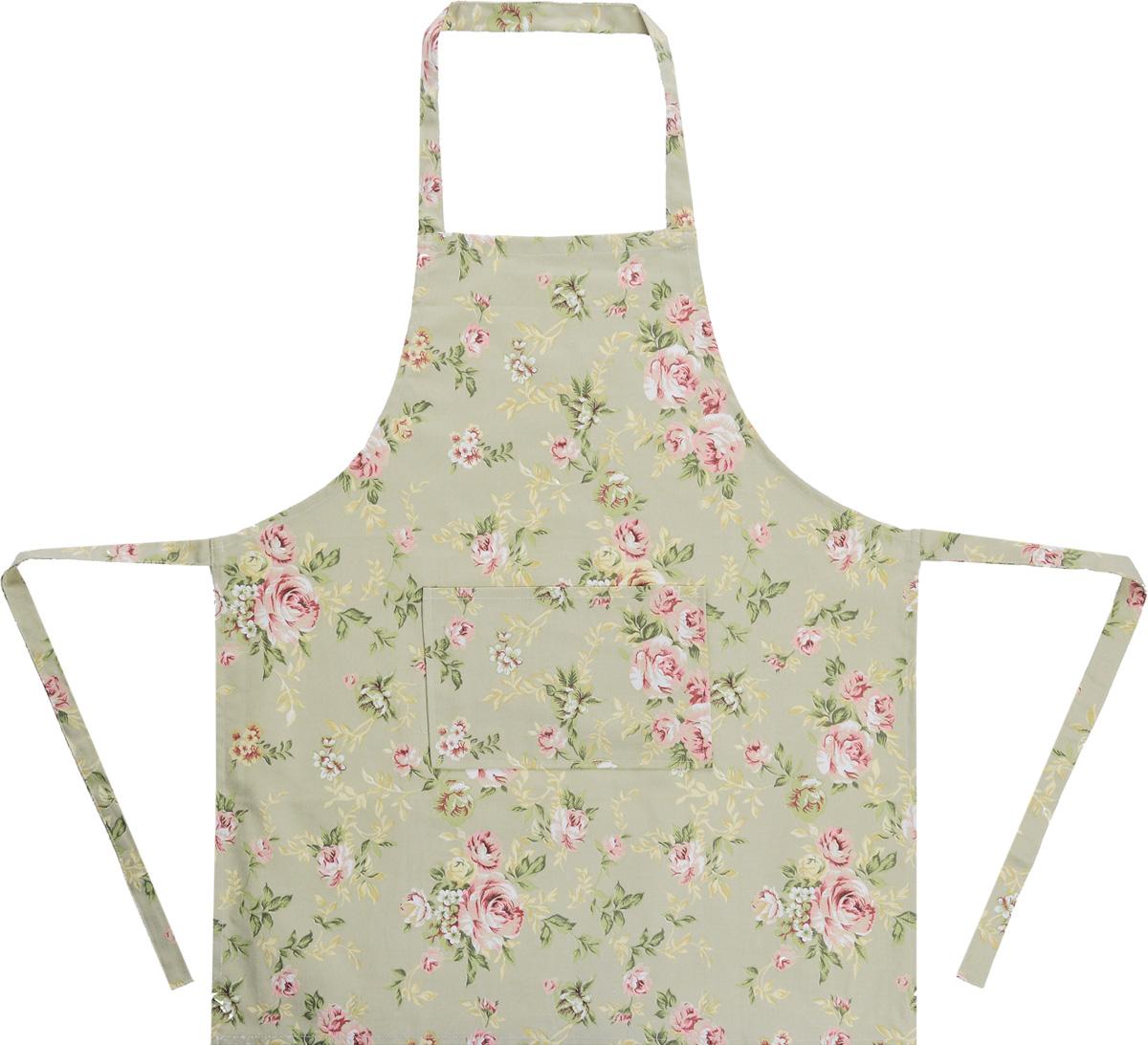 Фартук Bonita Английская коллекция, цвет: зеленый, 65 х 75 смVT-1520(SR)Фартук Bonita изготовлен из натурального хлопка с красивыми цветочными узорами. Фартук оснащен завязками и передним карманом. Имеет универсальный размер.Фартук поможет вам избежать попадания еды на одежду во время приготовления пищи. Кухня - это сердце дома, где вся семья собирается вместе. Она бережно хранит и поддерживает жизнь домашнего очага, который нас согревает. Именно поэтому так важно создать здесь атмосферу, которая не только возбудит аппетит, но и наполнит жизненной энергией. С текстилем Bonita открывается возможность не только каждый день дарить кухне новый облик, но и создавать настоящие кулинарные шедевры. Bonita станет незаменимым помощником и идейным вдохновителем, создающим вкусное настроение на вашей кухне.