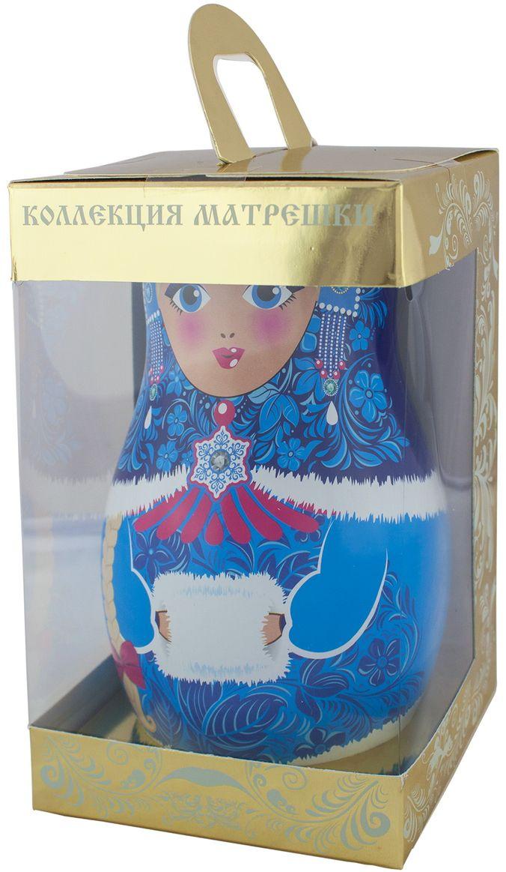 Дольче Вита Новогодняя матрешка голубая черный листовой чай, 50 г101246Дольче Вита Новогодняя матрешка - цейлонский черный крупнолистовой чай с листьями малины, ягодами можжевельника и красной смородины. Чай помещен в красочную подарочную упаковку-матрешку.