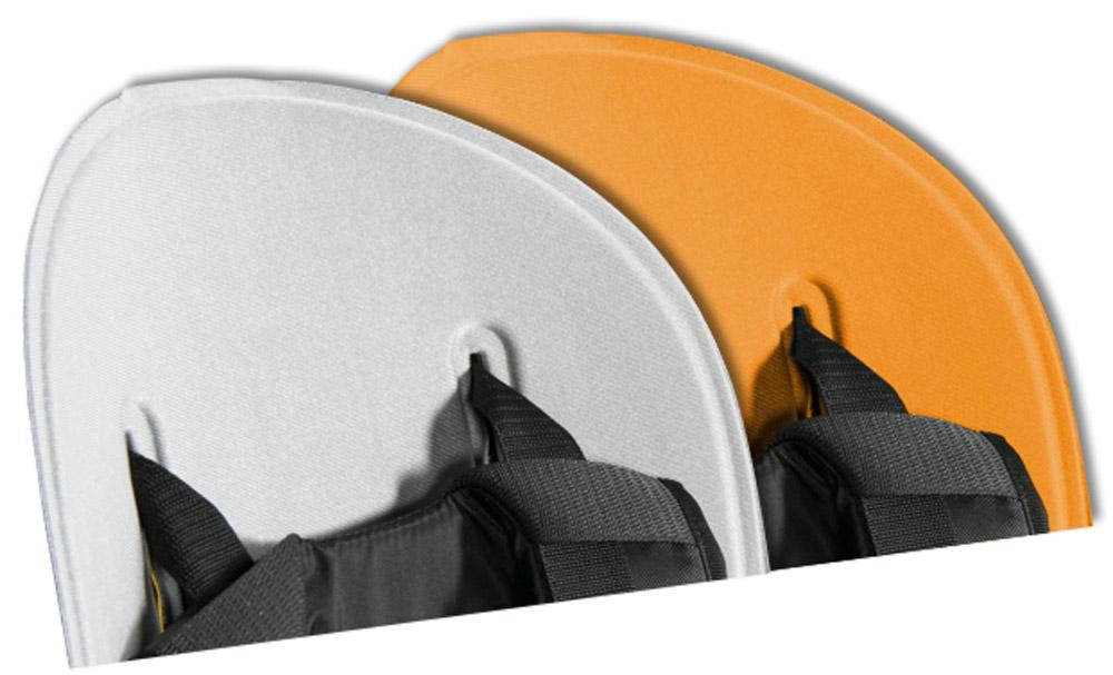 Вкладыш для велокресла Thule Ride Along, цвет: серый, оранжевый100401Легко стирается и чистится благодаря водоотталкивающим свойствам.Два цветовых исполнения: светло-серый с оранжевым или темно-серый с фиолетовым