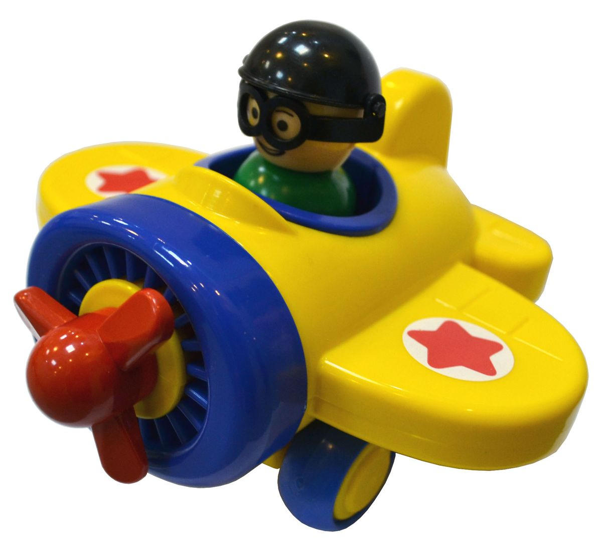 Игрушка Самолетик детский сад - это занимательная игрушка для мальчика. Игрушечный самолет с вращающимся пропеллером и с колесами из ПВХ (поливинилхлорид). Самолет с колесами, благодаря которым самолет можно пускать по полу кататься, оснащен инерционным механизмом. В кабине самолета есть фигурка пилота, которого можно вынуть из самолета.