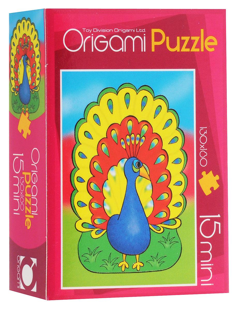 Оригами Пазл для малышей Павлин