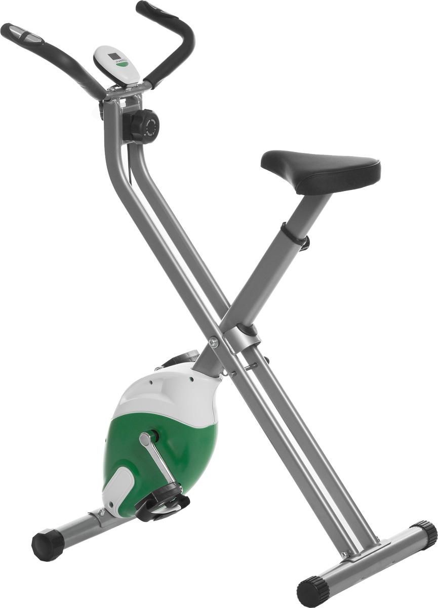 Велотренажер Ironmaster IREB0911MIREB0911MВелотренажер Ironmaster предназначен для пользователей начального и среднего уровней подготовки для домашних тренировок. Изделие предполагает магнитную нагрузку. Плавность хода обеспечивается маховиком, движущимся в поле постоянных магнитов.Сиденье можно отрегулировать по высоте для максимального комфорта, а на педали установлены ремни, необходимые для фиксации ног в правильном положении.Изделие имеет специальную консоль, на которой можно выбрать один из шести режимов работы: время, скорость, дистанция, калории, одометр, пульс. На дисплее отображаются необходимые показатели. Датчик пульса позволит измерить пульс. Для этого положите ладони на контактные площадки пульсометра, расположенные на руле, и подождите 30 секунд.Модель разработана для установки дома, она обладает компактными габаритами и не занимает много места. Для компактного хранения и транспортировки тренажер складывается.