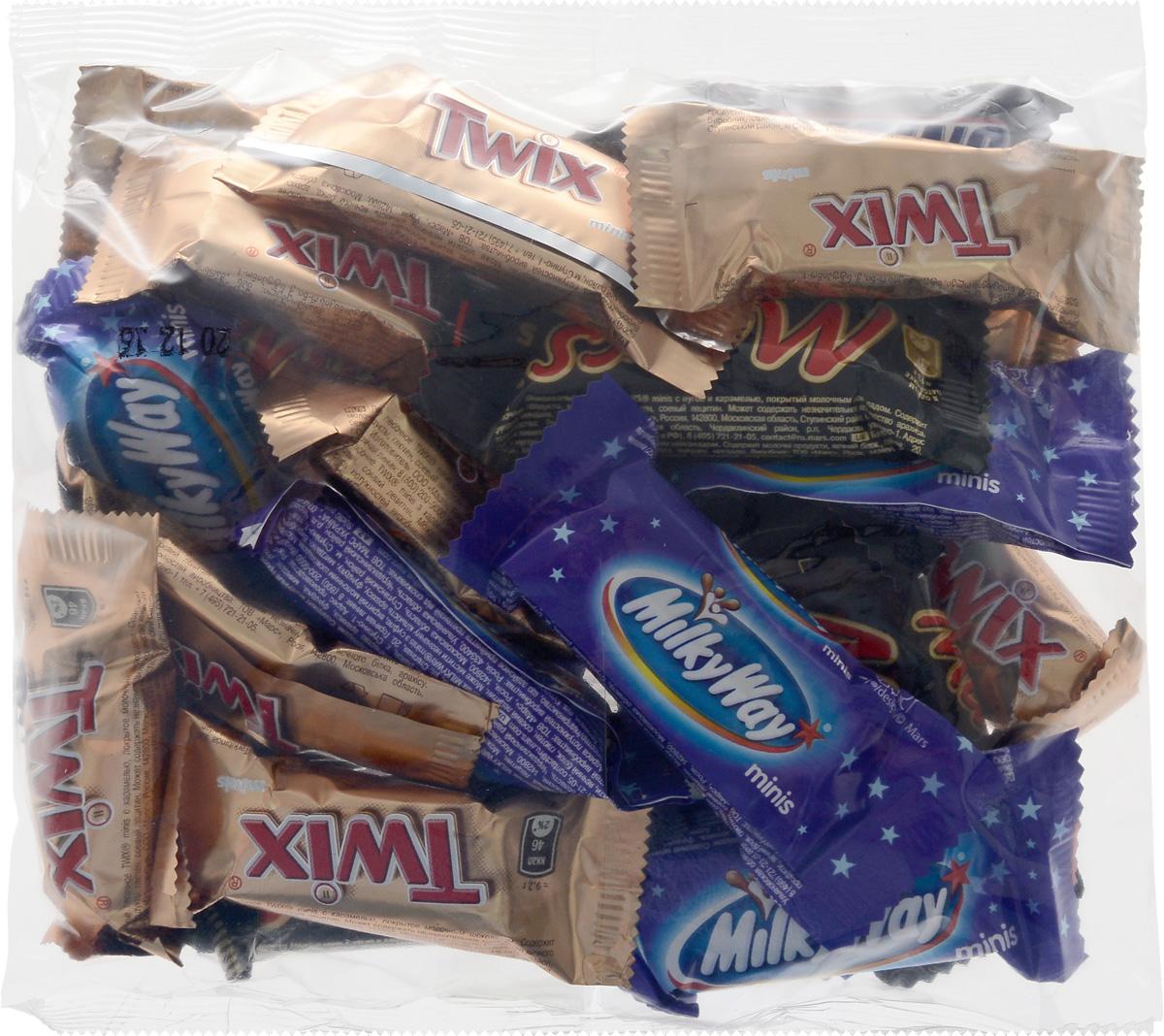 Mars Ассорти minis шоколадный батончик, 250 г0120710Милки Вей Минис - это конфеты, состоящие из нуги, которая намного легче молока. Молочный шоколад, которым покрыт Милки Вей, делает вкус конфет незабываемо нежным. Порадуйте юных сладкоежек, купите им Милки Вей, а они обязательно с вами поделятся.