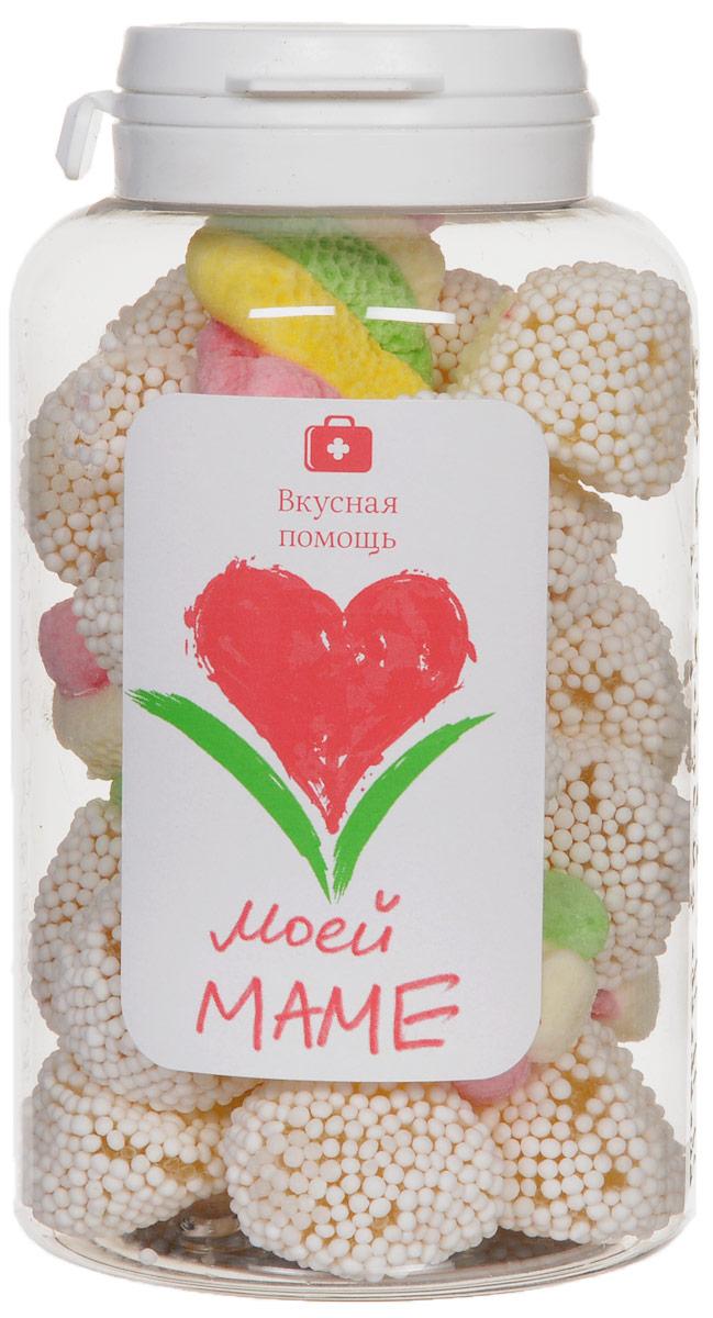 Вкусная помощь Конфеты Моей маме, 178 г00-00000065Вкусная помощь Конфеты Моей маме - фруктовый мармелад в нежной сахарной обсыпке в миксе с нежным клубнично-сливочным суфле.