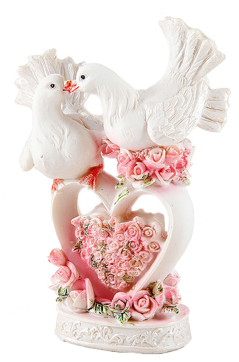 Фигурка декоративная Win Max Свадебная, 10 х 6 х 13 см. 12783874-0120Декоративная фигурка Win Max Свадебная изготовлена из полистоуна. Изделие представляет собой фигурку двух голубей. Такая фигурка идеально впишется в свадебный интерьер в качестве украшения и будет радовать вас своим видом в самый важный день в вашей жизни.