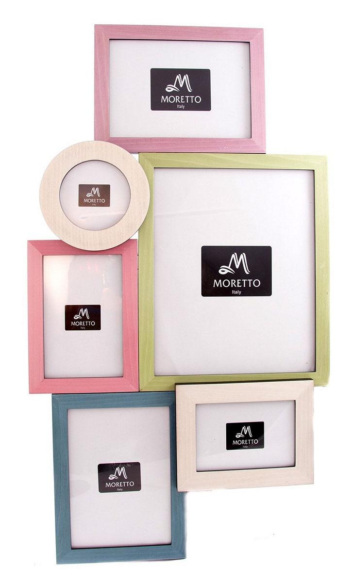 Фоторамка-коллаж Moretto, на 6 фото. 23800225051 7_зеленыйФоторамка-коллаж Moretto - прекрасный способ красиво оформить ваши фотографии. Фоторамка выполнена из дерева и защищена стеклом. Фоторамка-коллаж представляет собой шесть фоторамок для фото оригинально соединенных между собой. Такая фоторамка поможет сохранить в памяти самые яркие моменты вашей жизни, а стильный дизайн сделает ее прекрасным дополнением интерьера комнаты.
