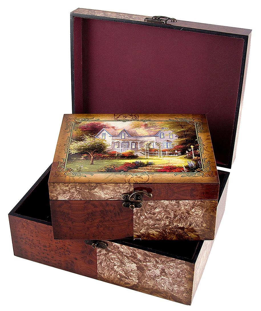 Набор сундучков Roura Decoracion, 30 х 24 х 12 см, 2 шт. 3466434664Набор сундучков Roura Decoracion станет полезным и особо желанным подарком для женщин, так как в них можно хранить что угодно, будь то инструменты для рукоделия, украшения или просто маленькие женские секреты..Набор состоит из двух предметов. Правила ухода: регулярно удалять пыль сухой, мягкой тканью.