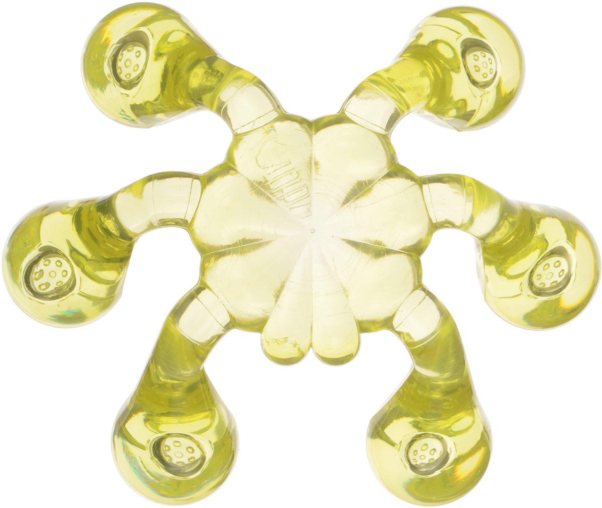 Лапонька-краб мануальный массажер, цвет: светло-желтый