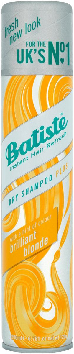 Batiste Light Brilliant Blonde Сухой шампунь, 200 млFS-00610Batiste LIGHT – сухой шампунь, который был разработан для обладательниц светлых или окрашенных в оттенки блонд волос. Его также, как и Batiste Original удобно использовать в дни между основным мытьем головы, помимо этого шампунь содержит небольшое количество желтого пигмента, который способен подстроиться под оттенок волос и замаскировать неокрашенные корни.