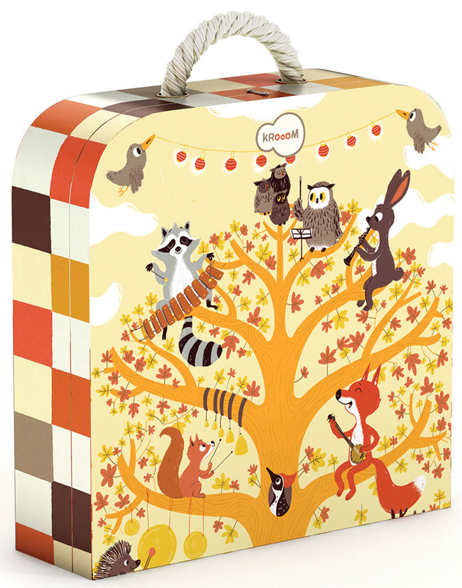 Krooom Пазл для малышей Лесные животные -