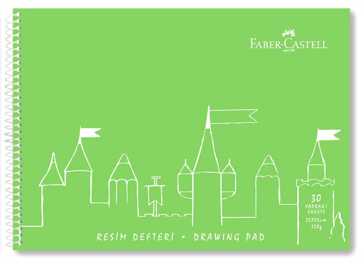 Faber-Castell Блокнот для рисования 30 листов цвет салатовый80Б5влB1гр_06602Блокнот для рисования Faber-Castell идеален для рисования, эскизов или заметок. Внутренний блок на спирали состоит из 30 листов белоснежной бумаги формата А4. Обложка выполнена из цветного пластика.