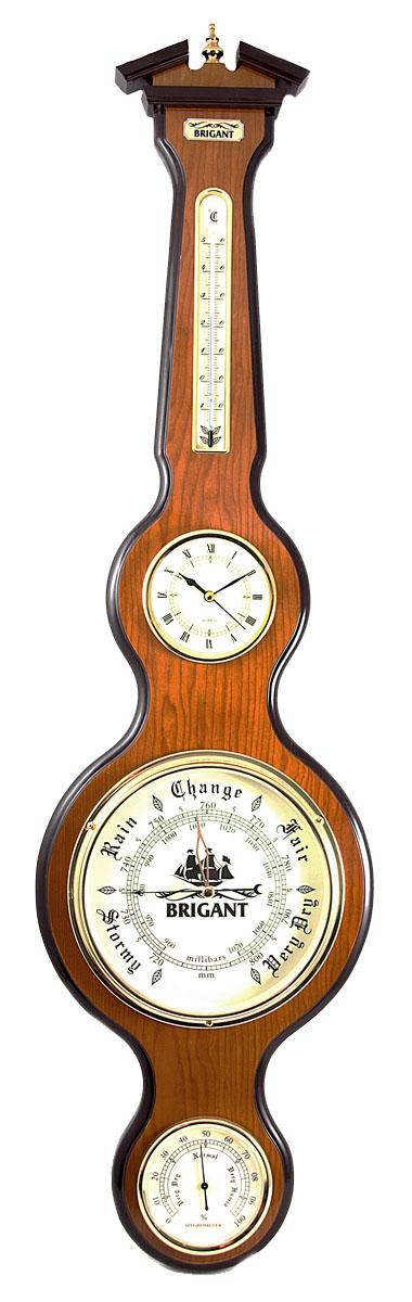 Часы-метеостанция Brigant: барометр, термометр, гигрометр, цвет: светлый орех. 2812728127