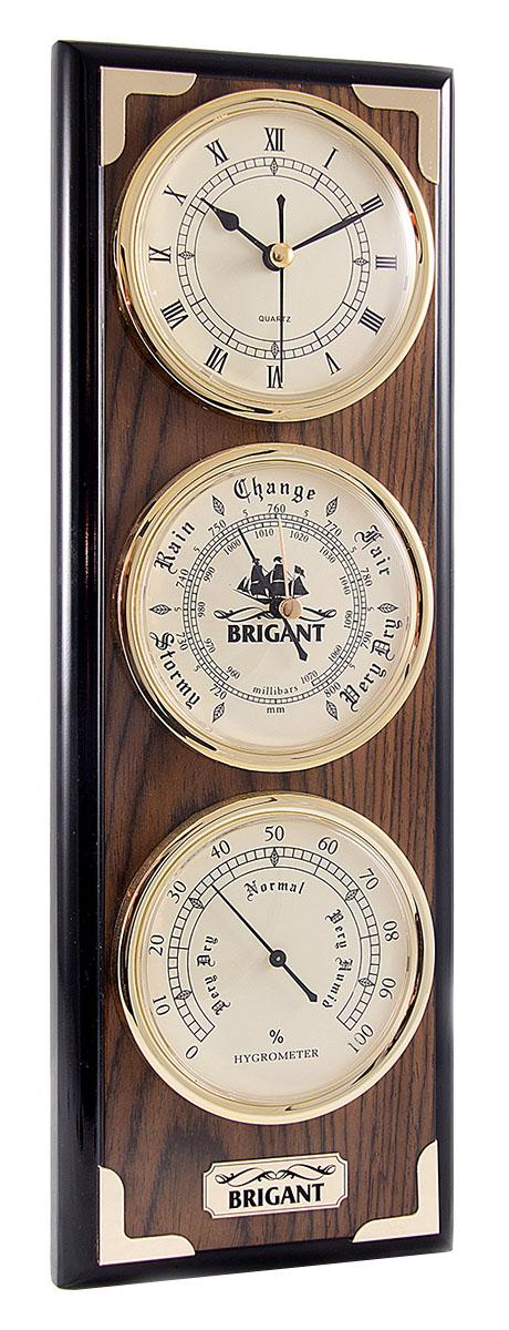 Часы-метеостанция Brigant: барометр, часы, гигрометр, 41х14х5 см. 2814128141
