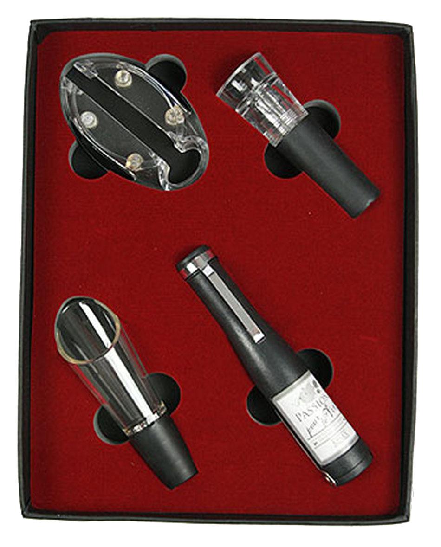 Набор сомелье Русские Подарки, 22 х 17 х 3 см. 57642300250_Россия, синийНабор сомелье Русские Подарки состоит из 4 предметов. Универсальный нож-штопор-открывалка выполнен в виде бутылки вина. Также в набор входят: нож для срезания оплетки (фольги), пробка-лейка, вакуумная пробка. Предметы набора надежно крепятся в определенном положении благодаря особым выемкам. Такой набор отлично подойдет в качестве делового подарка любителю вин, а также подчеркнет вкус его обладателя. Правила ухода: мыть теплой водой, не применять абразивные чистящие средства.