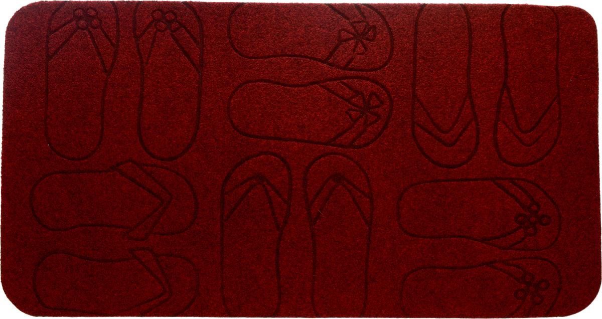 Коврик придверный EFCO Оскар. Сланцы, цвет: красный, 70 х 40 см