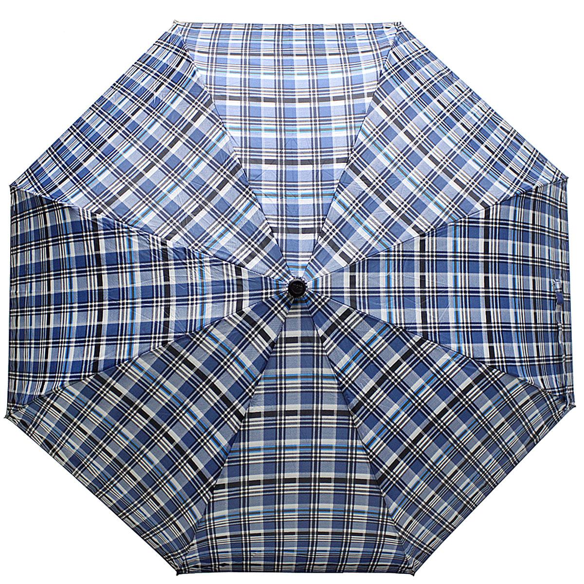 Зонт женский Vogue, цвет: синий. 448V-2П250071001-22Стильный механический зонт испанского производителя Vogue оснащен каркасом с противоветровым эффектом.Каркас зонта включает 8 спиц. Стержень изготовлен из стали, купол выполнен из прочного полиэстера. Зонт является механическим: купол открывается и закрывается вручную до характерного щелчка. Такой зонт не только надежно защитит вас от дождя, но и станет стильным аксессуаром, который идеально подчеркнет ваш неповторимый образ. Рекомендации по использованию: Мокрый зонт нельзя оставлять сложенным. Зонт после использования рекомендуется сушить в полураскрытом виде вдали от нагревательных приборов. Чистить зонт рекомендуется губкой, используя мягкие нещелочные растворы.
