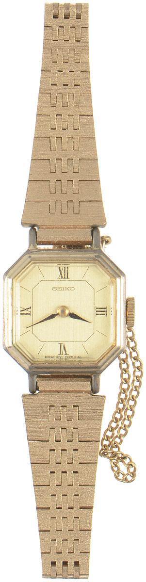 Zakazat.ru Женские наручные часы Золотое время от компании Seiko. Механика. Нержавеющая сталь золотистого тона. Минеральное стекло. Япония, 1970-е годы