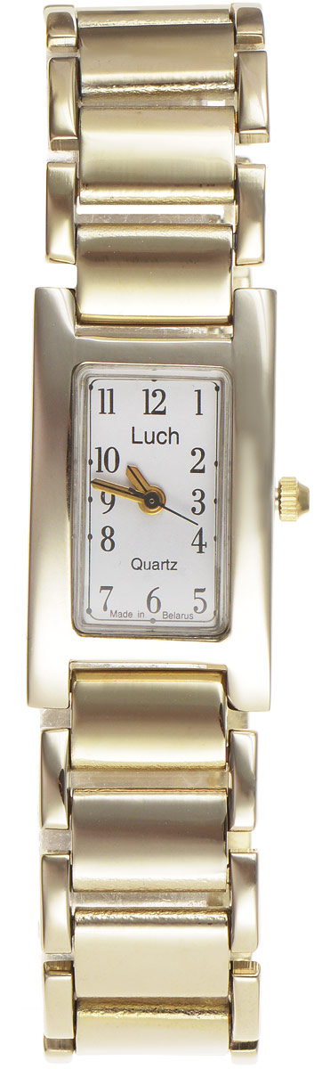 Наручные часы женские Луч Классическая коллекция, цвет: золотой. 396677424BM8434-58AE1. Запрещается корректировать числа месяца и дни недели в момент смены показаний календаря (с 22 часов 30 минут до 5 часов 30 минут); 2. В целях экономного расходования энергии элемента питания хранение часов должно осуществляться с вытянутой переводной головкой; 3. Водозащищенный корпус предохраняет механизм от случайного кратковременного воздействия пыли и брызг воды. Часы в обыкновенном исполнении корпуса следует беречь от пыли и воздействия влаги; 4. Если корпус часов водонепроницаемый, то сначала нужно отвернуть переводную головку, произвести корректировку показаний часов, календаря и завернуть головку. При отвернутой переводной головке корпус часов водопроницаем.; 5. Оберегайте часы от пыли, падения, резких ударов, от сильного магнитного поля, от воздействия влаги, резких колебаний температуры и химических продуктов, вызывающих коррозию. SR626 SW, R377, V377