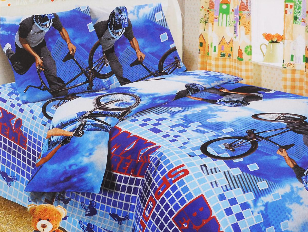 Letto Комплект детского постельного белья BMX 1,5-спальныйБМ-Н-8-2Комплект детского постельного белья Letto BMX, состоящий из наволочки, простыни и пододеяльника, выполнен из натурального 100% хлопка пакистанского производства. Комплект оформлен ярким изображением экстремального вида спорта.Хлопок - это натуральный материал, который не раздражает даже самую нежную и чувствительную кожу малыша, не вызывает аллергии и хорошо вентилируется.Такой комплект идеально подойдет для кроватки вашего малыша. На нем ребенок будет спать здоровым и крепким сном.Уход: деликатная стирка при температуре до 40 °C, не отбеливать, изделие может подвергаться бережной барабанной сушке, можно гладить при высокой температуре до 200 °C, сухая чистка запрещена.