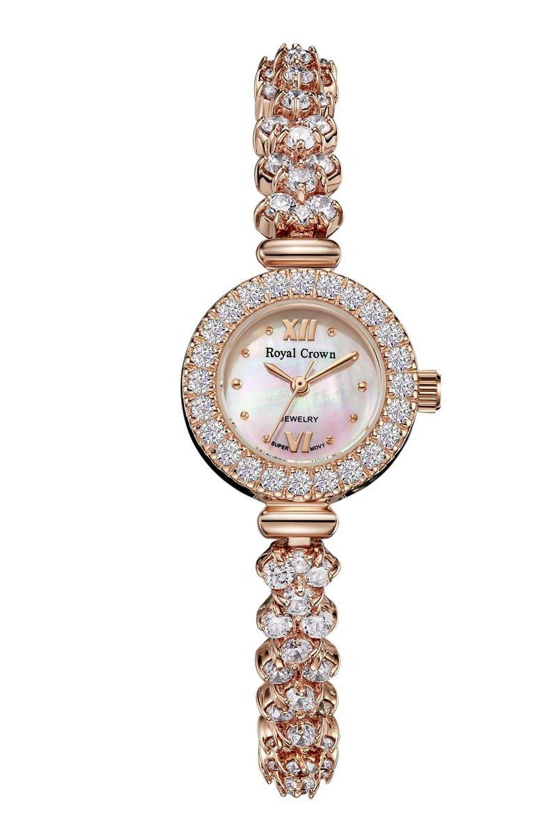 Zakazat.ru Часы наручные женские Royal Crown, цвет: золотой. 5266-RSG-5