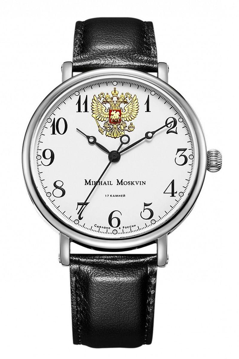 Часы наручные мужские Mikhail Moskvin, цвет: серебристый, черный. 1050A1L5BM8434-58AEНаручные кварцевые часы Mikhail Moskvin выполнены из высококачественных материалов. Корпус выполнен из высококачественного металла с напылением ионами стали. Ремешок, выполненный изтекстурной кожи, застегивается с помощью пряжки. Часы оснащены минеральным, устойчивым к царапинам, стеклом с сапфировым напылением и задней крышкой из гипоаллергенной нержавеющей стали.