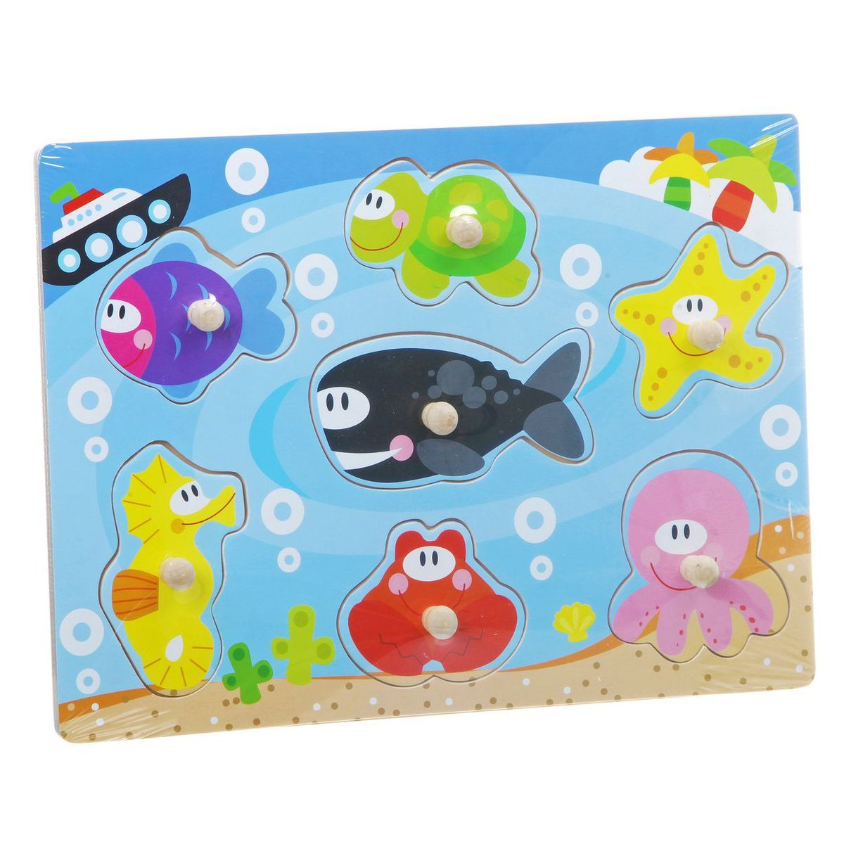 Bondibon Пазл для малышей Подводный мир ravensburger подводный мир пазл 5000 элементов