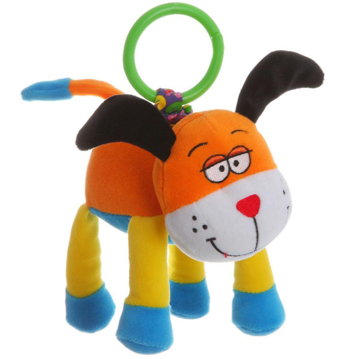 Bondibon Мягкая развивающая игрушка-растяжка Собака