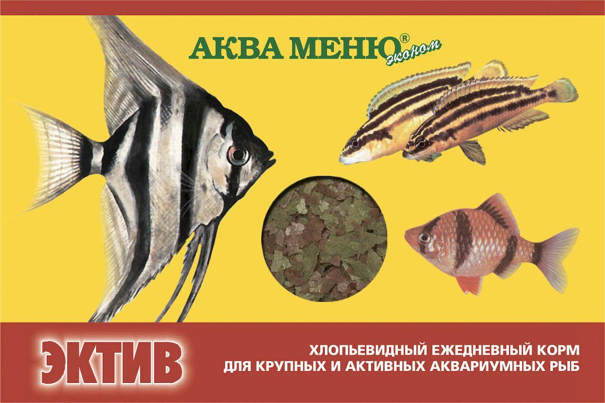 Корм для рыб Аква Меню Эктив, для крупных и активных рыб, 11 г0120710хлопьевидный ежедневный корм для крупных и активных рыб