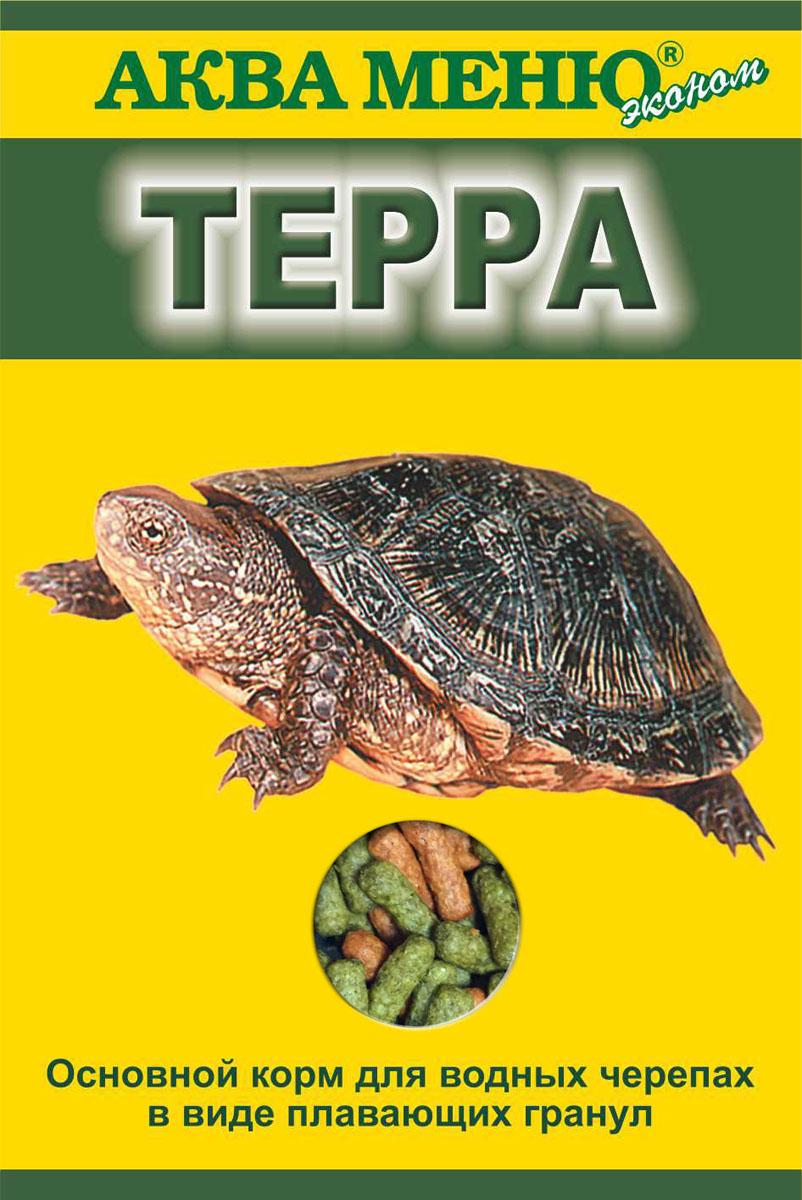 Корм Аква Меню Терра для водных черепах, в виде плавающих гранул, 15 г0120710Основной корм для водных черепах в виде плавающих гранул. Товар сертифицирован.