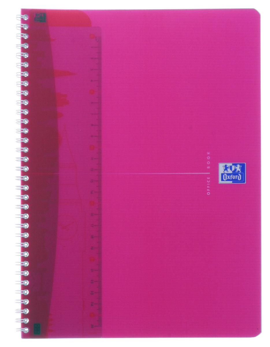 Тетрадь Oxford My Colours формата А4 на металлическом гребне в полупрозрачной, гибкой, водонепроницаемой обложке из розового полипропилена подойдет школьнику и студенту для различных записей.Внутренний блок тетради состоит из 50 листов белой бумаги в клетку без полей. Высококачественная бумага имеет шелковистую поверхность и высокую белизну. На гребне тетради крепится разделитель, который выполняет функции закладки и линейки, он может быть перемещен в любое удобное для пользователя место.