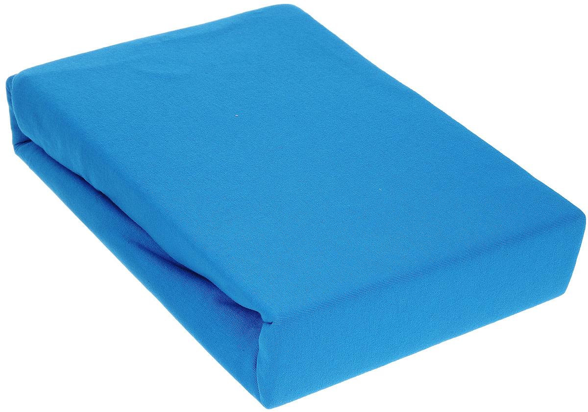 Простыня на резинке Хлопковый Край, цвет: голубой, 160 х 200 смPR-2WПростыня на резинке Хлопковый Край изготовлена из натурального хлопка голубого цвета (100% хлопка) и абсолютно безопасна даже для самых маленьких членов семьи. Она обладает высокой плотностью, необычайной мягкостью и шелковистостью. Простыня из такого хлопка выдержит большое количество стирок и не потеряет цвет. Простыня прошита резинкой по всему периметру, что обеспечивает более комфортный отдых, так как она прочно удерживается на матрасе и избавляет от необходимости часто поправлять простыню. Выбрав простыню нужной вам расцветки, вы можете легко комбинировать ее с различным постельным бельем.