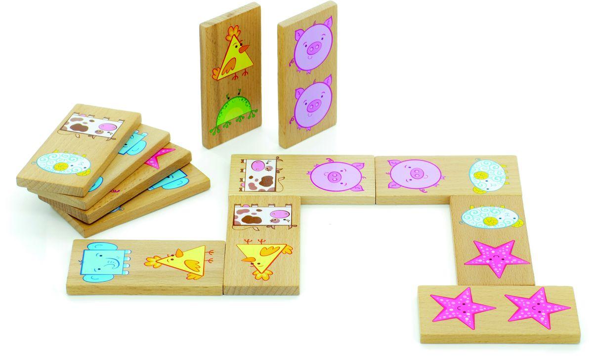 Мир деревянных игрушек Обучающая игра Домино Фигуры Мир деревянных игрушек
