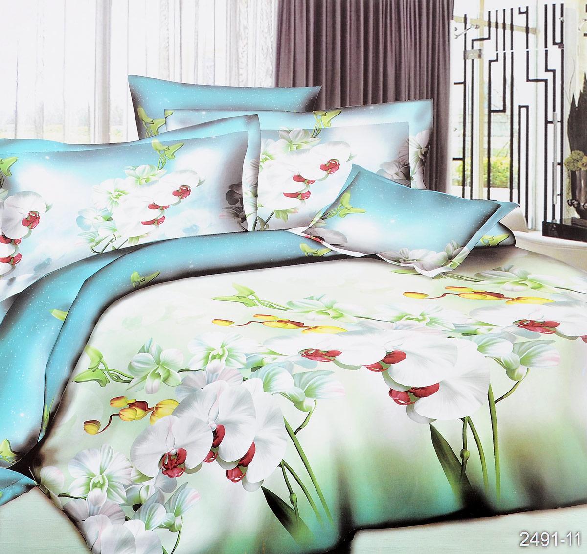 Комплект белья ЭГО Шамони, 1,5-спальный, наволочки 70 x 70, цвет: зеленый391602Комплект белья ЭГО Шамони выполнен из полисатина (50% хлопка, 50% полиэстера). Комплект состоит из пододеяльника, простыни и двух наволочек. Постельное белье имеет изысканный внешний вид и яркую цветовую гамму. Гладкая структура делает ткань приятной на ощупь, мягкой и нежной, при этом она прочная и хорошо сохраняет форму. Ткань легко гладится, не линяет и не садится. Приобретая комплект постельного белья ЭГО Шамони, вы можете быть уверенны в том, что покупка доставит вам и вашим близким удовольствие и подарит максимальный комфорт.
