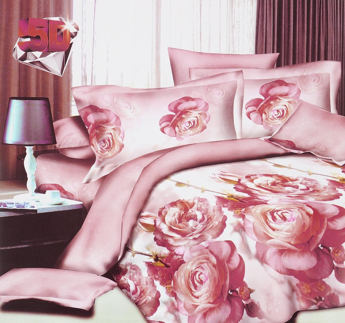 Комплект белья ЭГО Южная Роза, 2-спальный, наволочки 70x70391602Комплект белья ЭГО Южная Роза выполнен из полисатина (50% хлопка, 50% полиэстера). Комплект состоит из пододеяльника, простыни и двух наволочек. Постельное белье имеет изысканный внешний вид и яркую цветовую гамму. Гладкая структура делает ткань приятной на ощупь, мягкой и нежной, при этом она прочная и хорошо сохраняет форму. Ткань легко гладится, не линяет и не садится. Приобретая комплект постельного белья ЭГО Южная Роза, вы можете быть уверенны в том, что покупка доставит вам и вашим близким удовольствие и подарит максимальный комфорт.
