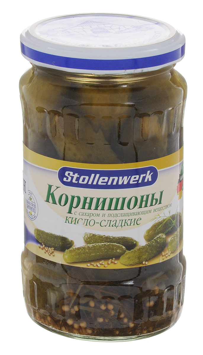 Stollenwerk корнишоны огурцы, 370 мл0120710Огурчики Stollenwerk отбираются по одному размеру. Имеют великолепный вкус и хрусткость.