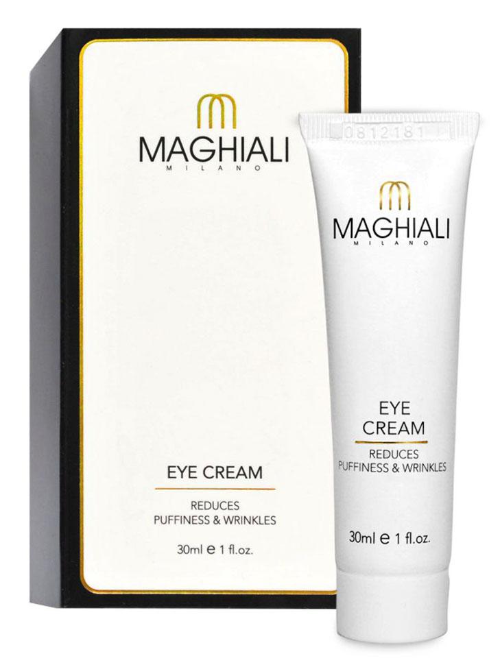 Maghiali Крем для глаз Eye Cream, 30 млУТ-00000151Если у Вас есть мешки под глазами, но Вы не хотите делать операцию — есть отличное решение: крем для глаз Maghiali. С его помощью мешки под глазами пропадут за 3 минуты!Крем для глаз Maghiali с коллагеном укрепляет основу кожи и помогает Вам начать день со свежим лицом.EYE CREAM Maghiali — крем нового поколения, содержащий пептиды, коллаген и эластин. Он повышает способность кожи удерживать влагу и улучшает ее внешний вид. Также в состав крема входит экстракт имбиря, которий известен уже более 2000 лет как лечебное средство .EYE CREAM Maghiali устраняет припухлости под глазами за 3 минуты, разглаживает морщины вокруг глаз и уменьшает темные круги. Рекомендуется использовать утром.В состав EYE CREAM Maghiali входят ингредиенты, благодаря которым Вы получаете долгосрочный эффект.Крем для глаз Maghiali омолаживает кожу вокруг глаз, натягивая и сглаживая ее и корректирует морщины вокруг глаз.