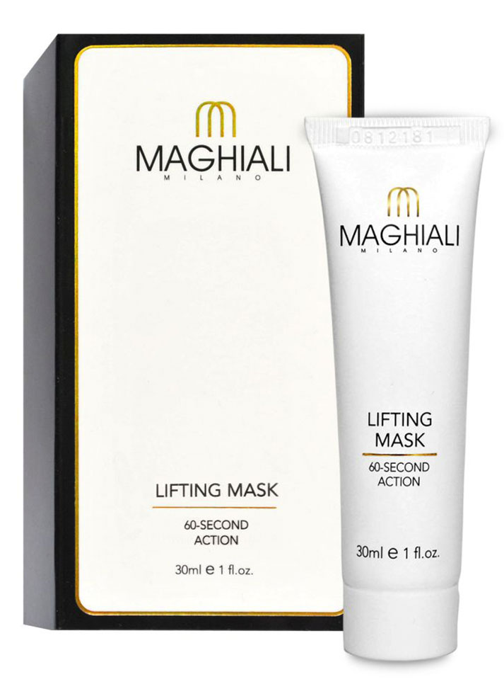 Maghiali Лифтинг-маска Lifting Mask. 60 секунд, 30 млFS-00897Maghiali совершает революцию, благодаря уникальной, защищенной патентом формуле. Эта формула, основанная на микротехнологии, позволяет добиться успеха там, где обычные косметологические процедуры бессильны, и демонстрирует впечатляющие результаты уже после первого применения!Маска Maghiali содержит гиалуроновую кислоту и коллаген. Эффективно разглаживает морщины и придает коже более упругий вид, при этом сужает поры и удаляет пятна. Маска Maghiali также содержит аргановое масло и эластин, помогающие замедлить старение кожи и поддерживать естественный, здоровый цвет лица.С Maghiali не нужно тратить время на процедуры косметолога, и уж, конечно, нет никакой необходимости в применении ботокса и выполнении пластических операций!Постоянное применение маски Maghiali один или два раза в неделю (зависимости от глубины морщин) разглаживает глубокие и мелкие морщины даже в таких чувствительных местах, как шея и декольте.Моментальный результат! Уже после первого использования Maghiali можно видеть эффект, который с каждой минутой только усиливается:
