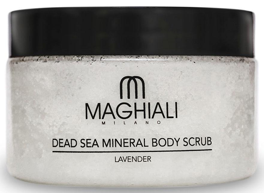 Maghiali Скраб для тела Dead sea Mineral, лаванда, 250 мл72523WDСодержит 100% соль Мертвого моря, обогощенную 27 витаминами и минералами Мертвого моря, а также кунжутное масло и масло семян жожоба, которые обеспечивают продолжительное увлажнение кожи. Скраб позволяет устранить омертвевшие клетки и загрязнения, скопившиеся в порах кожи, делая ее гладкой и приятной на ощупь. Особенно рекомендуется для придания мягкости ступням.