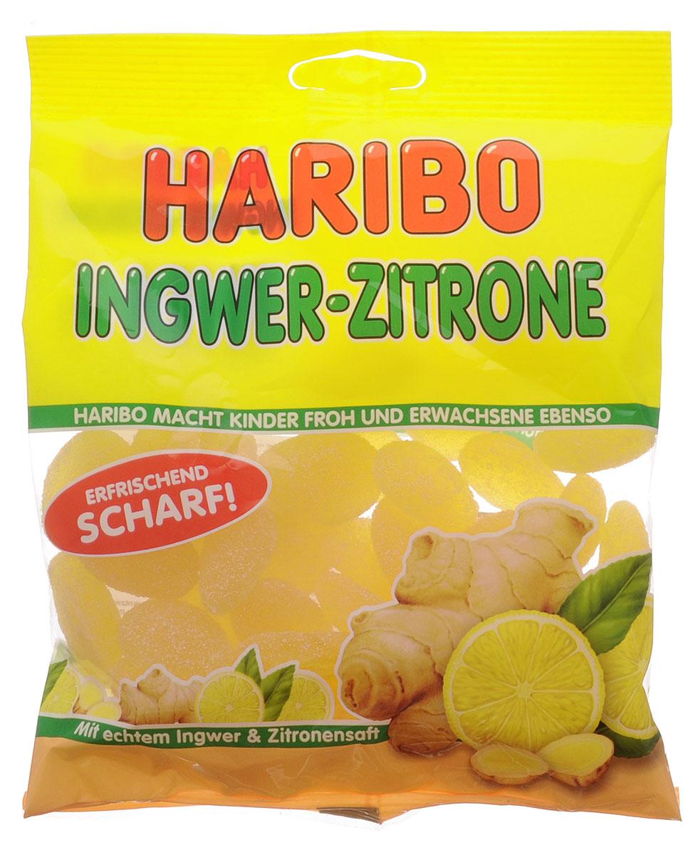 Haribo Имбирный лимон мармелад жевательный, 175 г мармелад haribo жевательный веселая кола 140 г