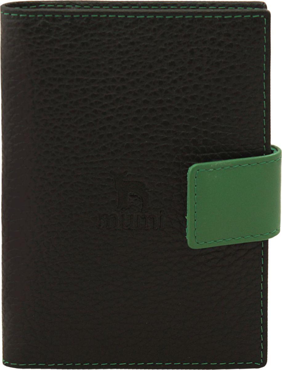 Бумажник водителя Dimanche Mumi, цвет: черный, зеленый. 454454_черный, зеленыйБумажник водителя Dimanche Mumi стандартного размера изготовлен из натуральной кожи. Внутри имеются четыре кармана для визиток/кредиток, карман для sim карты и два вертикальных кармана. А также бумажник оснащен пластиковым блоком для документов водителя.